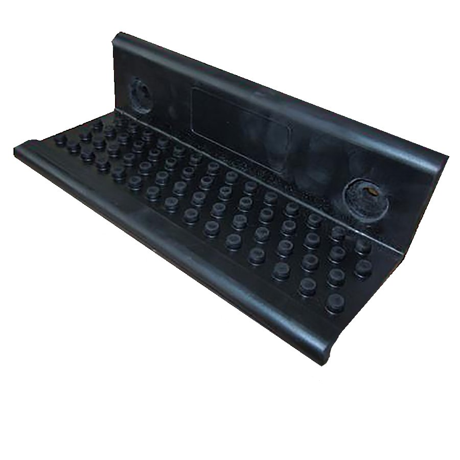 Gumové stupátko pro přívěsy a vozíky s výztuhou - délka 18 cm, šířka 8,8 cm a výška 6 cm