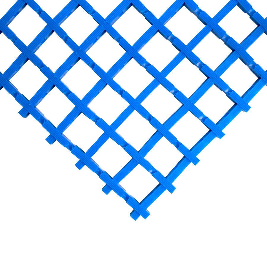 Modrá olejivzdorná protiskluzová průmyslová univerzální rohož (mřížka 22 x 22 mm) - výška 1,2 cm