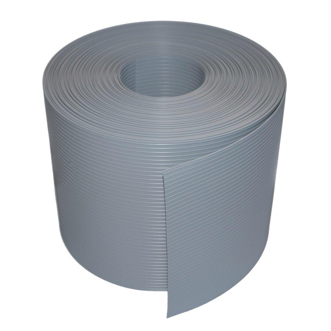 Světle šedý plastový ratanový stínící pás - délka 20 m a výška 19 cm