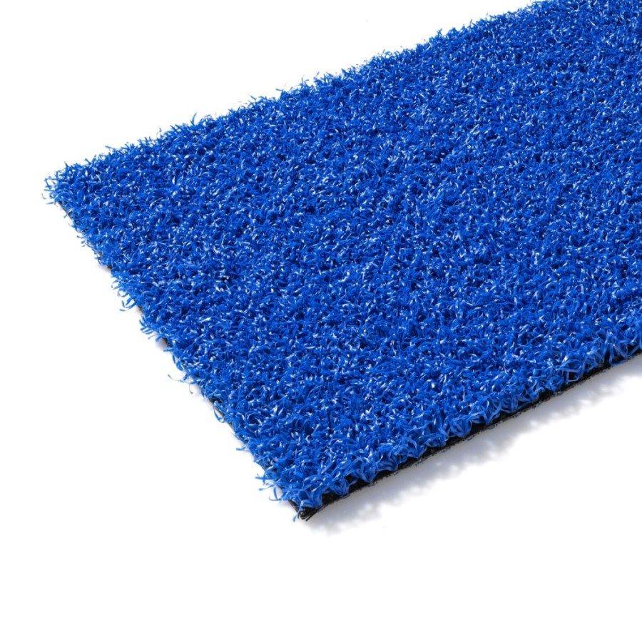 Modrý metrážový umělý trávník Colourfull Grass, Blue, FLOMA - délka 1 cm a výška 1,4 cm