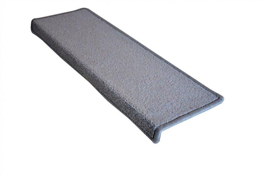 Šedý kobercový nášlap na schody Eton - délka 24 cm a šířka 65 cm