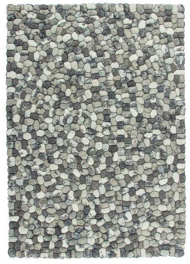 Šedý kusový luxusní koberec Stepstone - délka 150 cm a šířka 80 cm