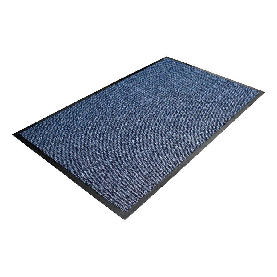 Modrá textilní metrážová čistící vnitřní vstupní rohož - výška 0,7 cm