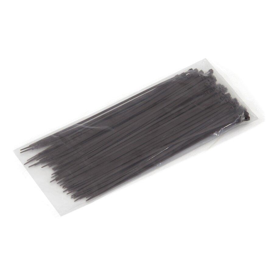 Hnědá plastová stahovací páska - délka 20 cm a šířka 0,25 cm - 100 ks