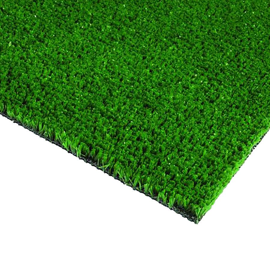 Zelená plastová čistící metrážová vstupní rohož FLOMA - šířka 200 cm a výška 0,9 cm