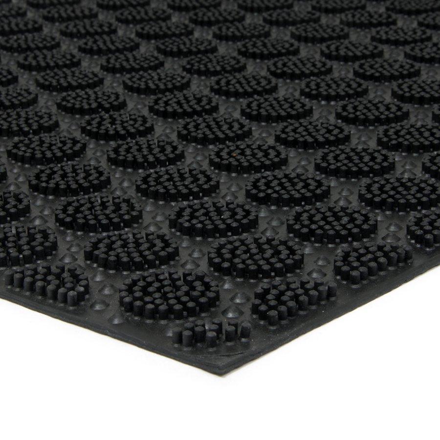 Gumová čistící venkovní vstupní rohož FLOMA Circles - délka 40 cm, šířka 60 cm a výška 0,7 cm