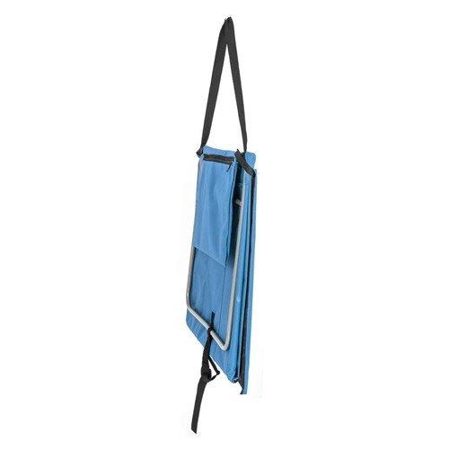 Modré plážové skládací lehátko s ocelovou konstrukcí - délka 150 cm a šířka 54 cm