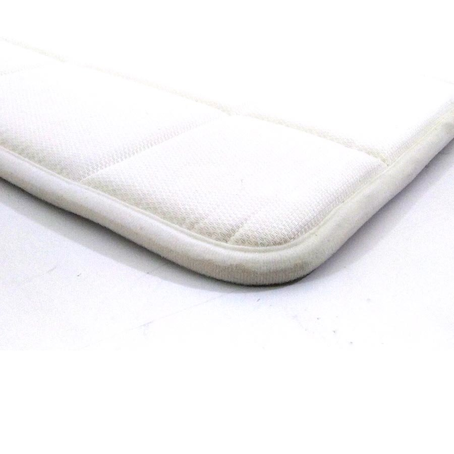 Bílá pěnová koupelnová předložka - délka 85 cm a šířka 53 cm