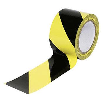Černo-žlutá podlahová vyznačovací páska - délka 33 m a šířka 10 cm