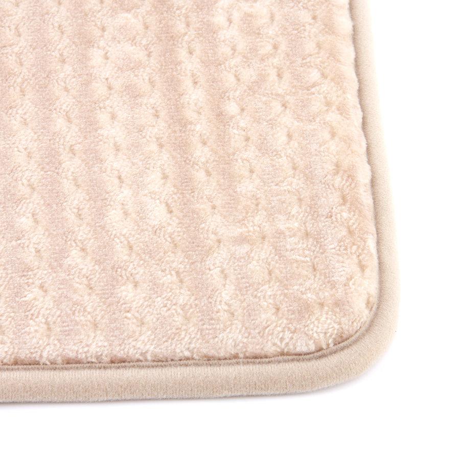 Béžová koupelnová pěnová předložka 02 - délka 81 cm a šířka 51 cm