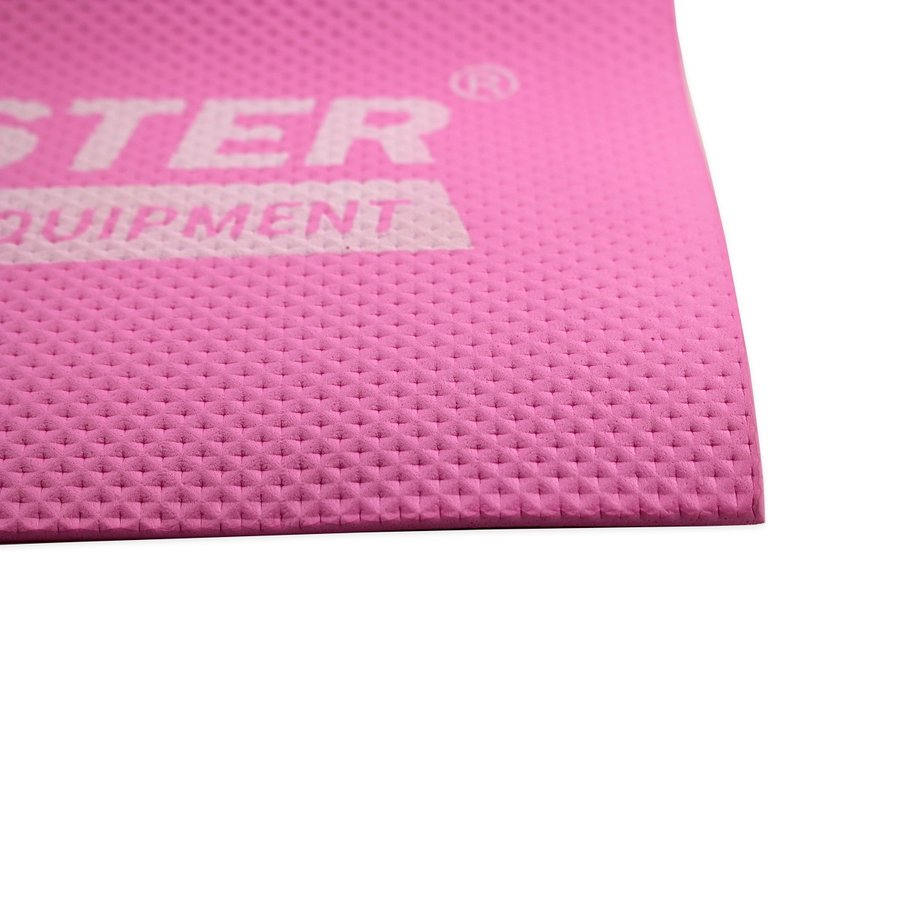 Růžová podložka na cvičení a na jógu MASTER - délka 173 cm, šířka 60 cm a výška 0,4 cm