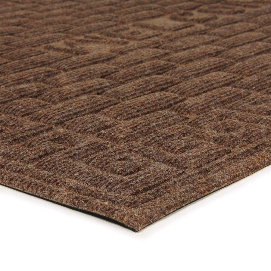 Hnědá textilní vstupní venkovní čistící rohož Welcome - Deco, FLOMA - délka 60 cm, šířka 90 cm a výška 1 cm
