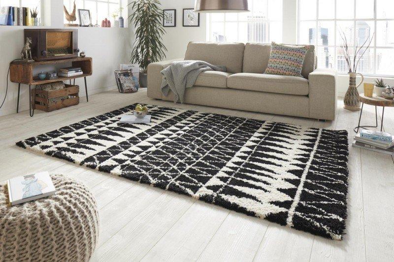 Černý kusový moderní koberec Allure