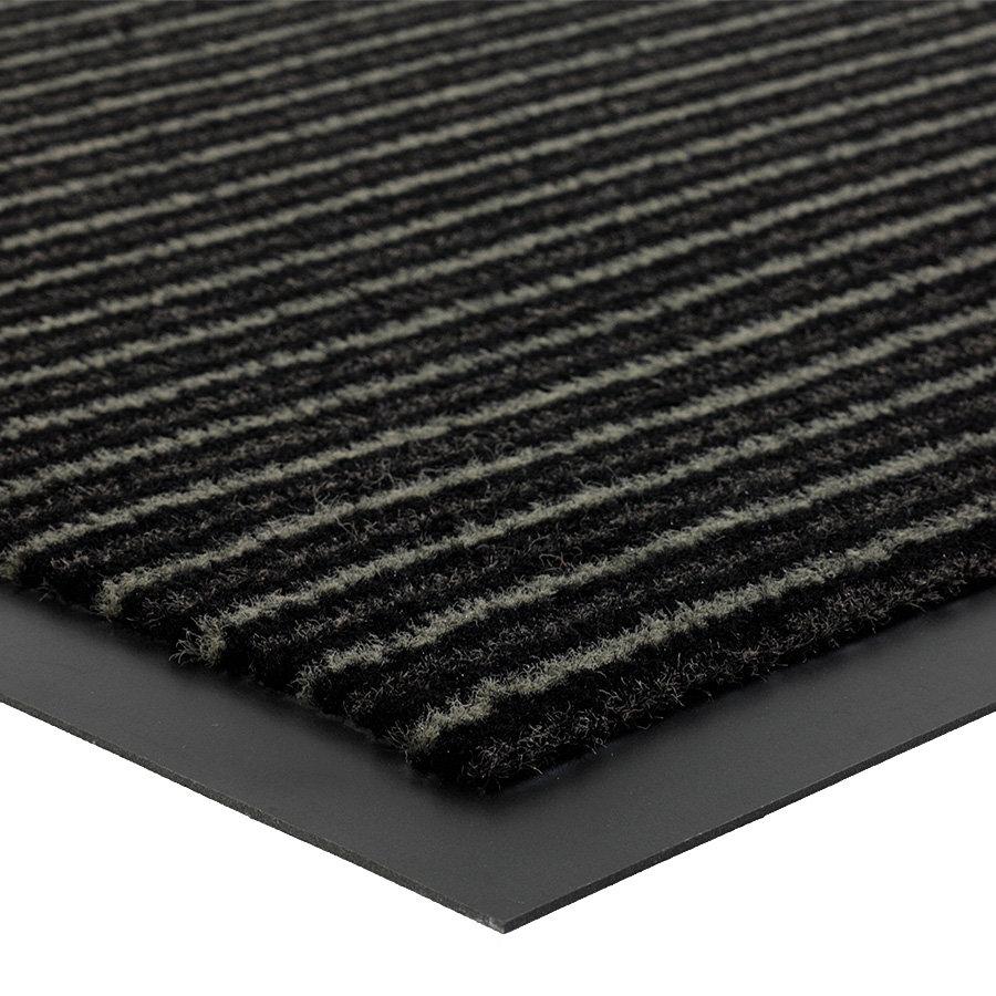 Šedá čistící vnitřní vstupní rohož FLOMA Scala - výška 0,5 cm