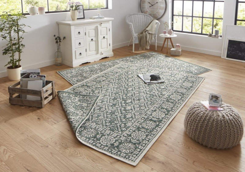 Zelený orientální koberec Twin-Wendeteppiche