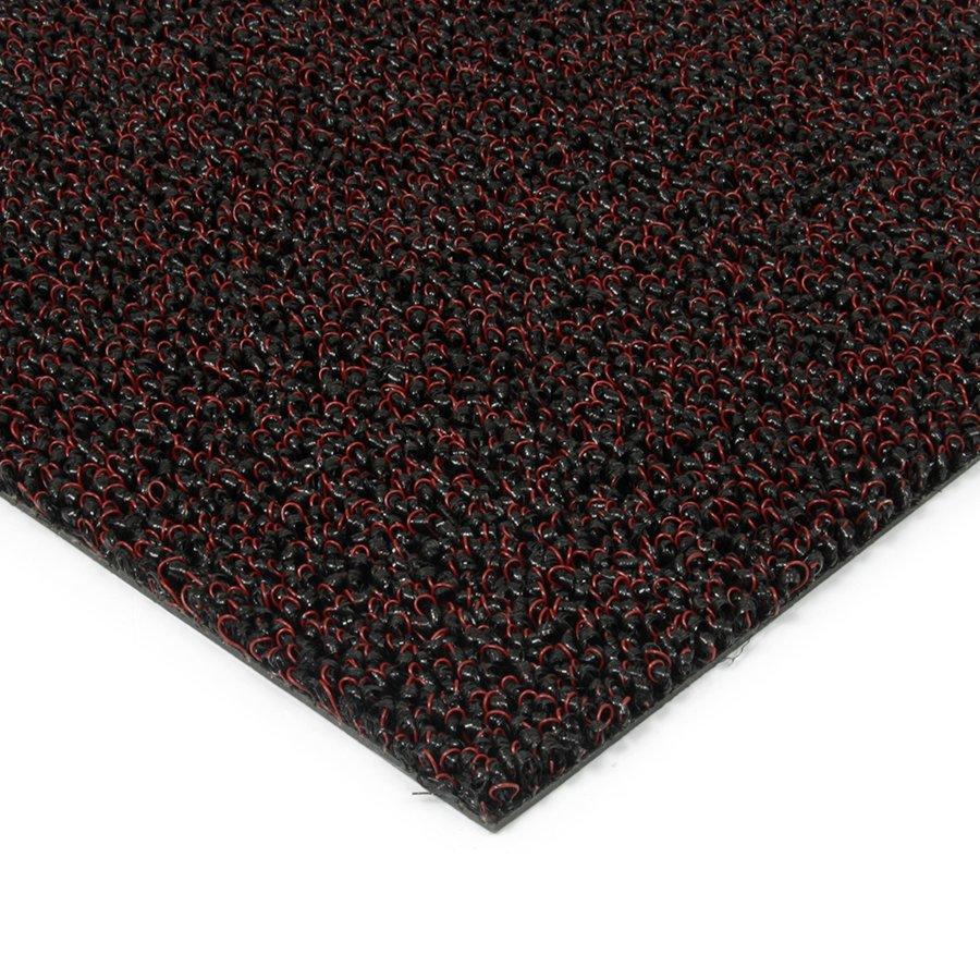 Červená plastová zátěžová venkovní vnitřní vstupní čistící zóna Rita, FLOMAT - výška 1 cm