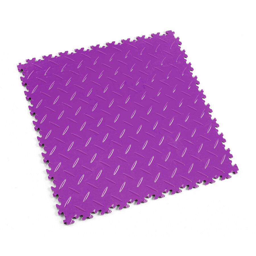 Fialová vinylová plastová zátěžová dlaždice Industry 2010 (diamant), Fortelock - délka 51 cm, šířka 51 cm a výška 0,7 cm