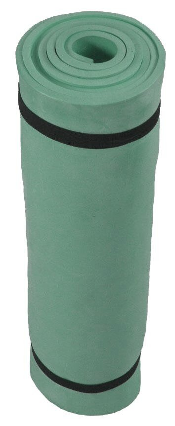 Zelená jednovrstvá pěnová karimatka - délka 180 cm a šířka 50 cm
