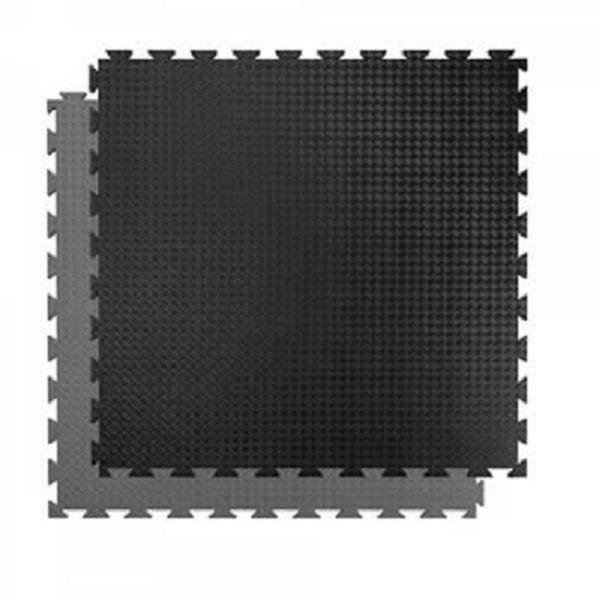Černo-šedá oboustranná puzzle Tatami podložka SPARTAN SPORT - délka 100 cm, šířka 100 cm a výška 2 cm