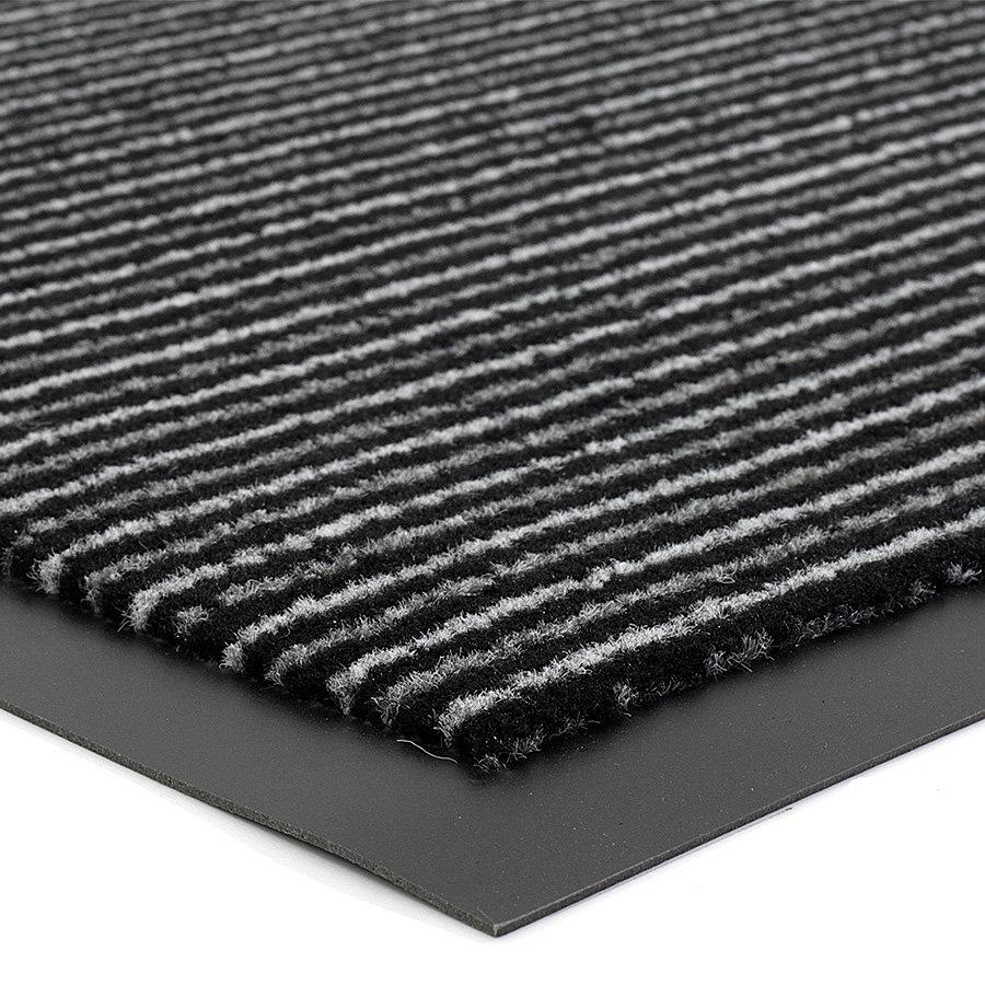 Antracitová čistící vnitřní vstupní rohož FLOMA Scala - výška 0,5 cm