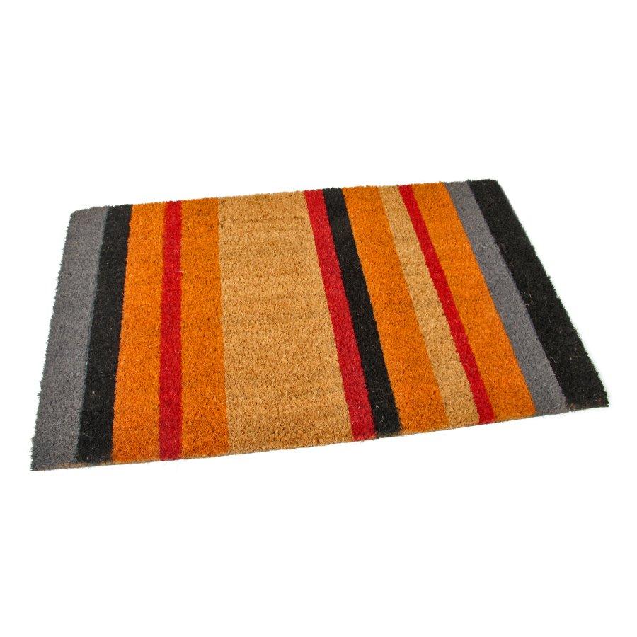 Kokosová vstupní venkovní čistící rohož Stripes, FLOMA - délka 45 cm, šířka 75 cm a výška 1,7 cm