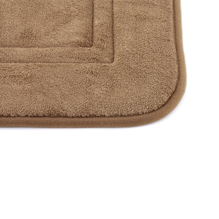 Hnědá pěnová koupelnová předložka - délka 80 cm a šířka 50 cm