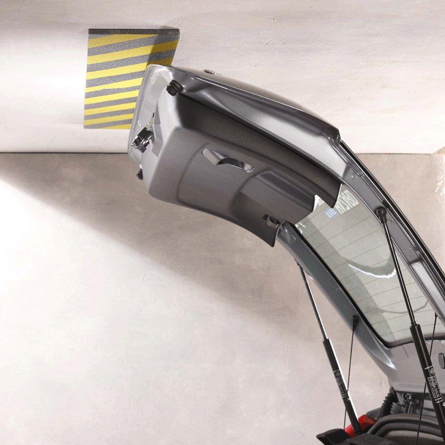 Černo-žlutý pěnový ochranný pás - délka 100 cm, výška 15 cm a tloušťka 1 cm