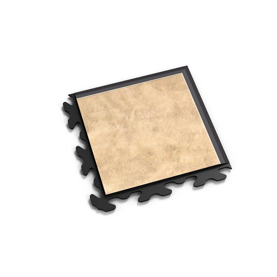 "Béžový vinylový plastový rohový nájezd ""typ B"" Fortelock Business Decor 2127 - délka 14,5 cm, šířka 14,5 cm a výška 0,65 cm"