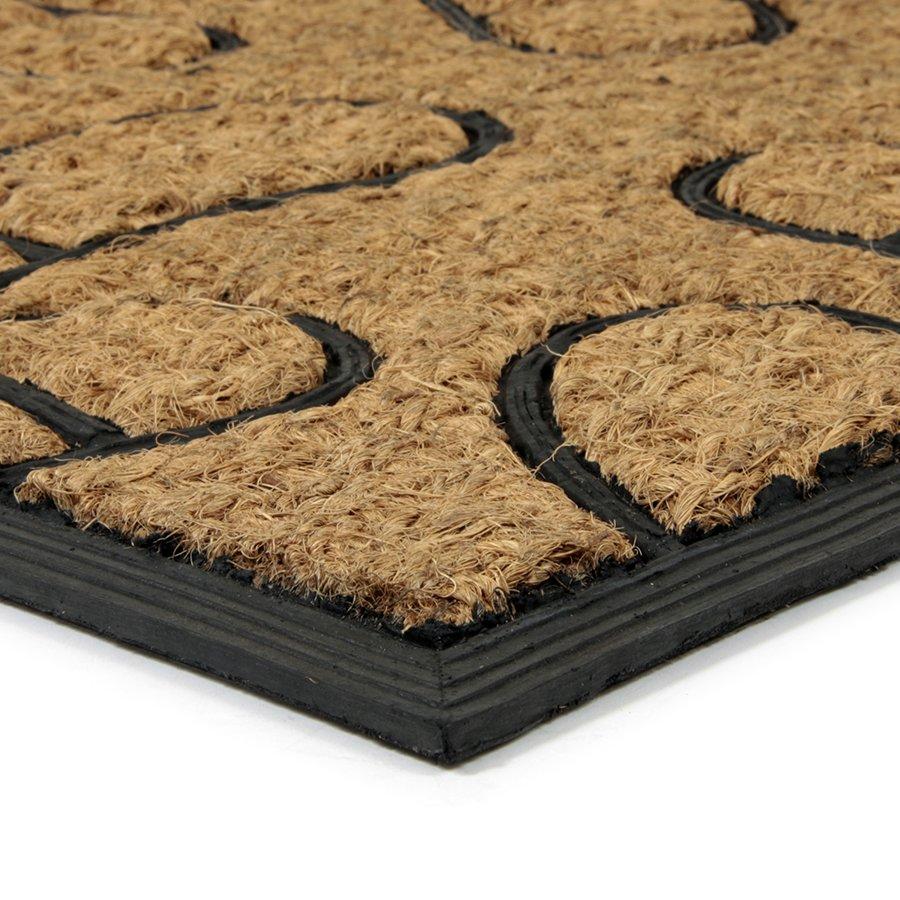 Kokosová čistící venkovní vstupní rohož Rectangle - Traces, FLOMA - délka 45 cm, šířka 75 cm a výška 0,8 cm