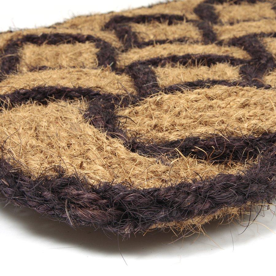 Kokosová vstupní venkovní čistící rohož Jumbo Rectangle Brown, FLOMA - délka 45 cm, šířka 75 cm a výška 3,5 cm