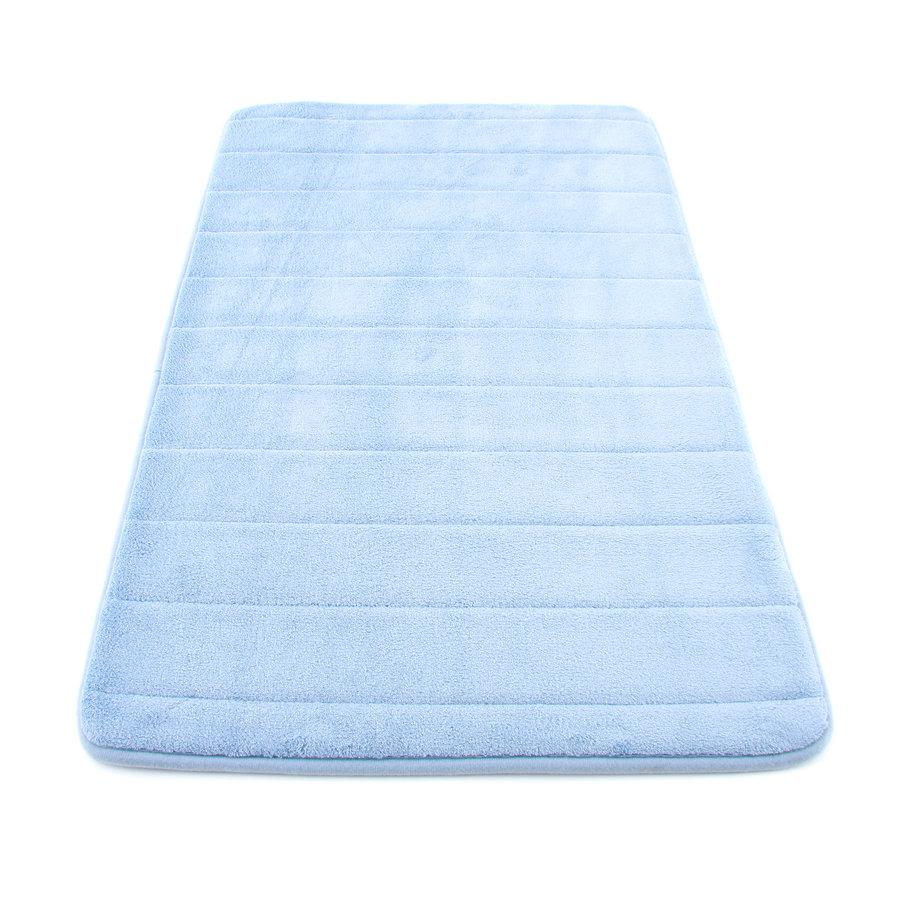 Modrá koupelnová pěnová předložka 02 - délka 85 cm a šířka 53 cm