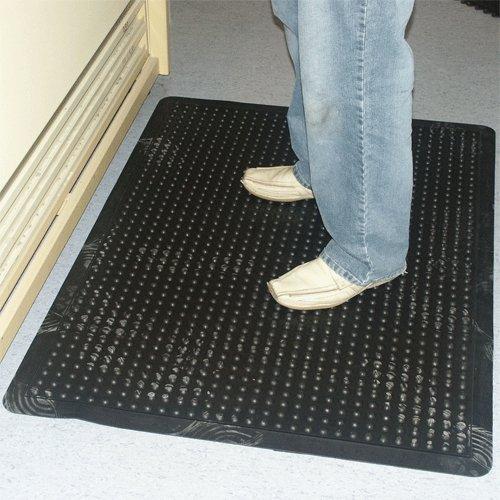 Černá gumová protiúnavová průmyslová rohož - délka 120 cm, šířka 90 cm a výška 1,4 cm