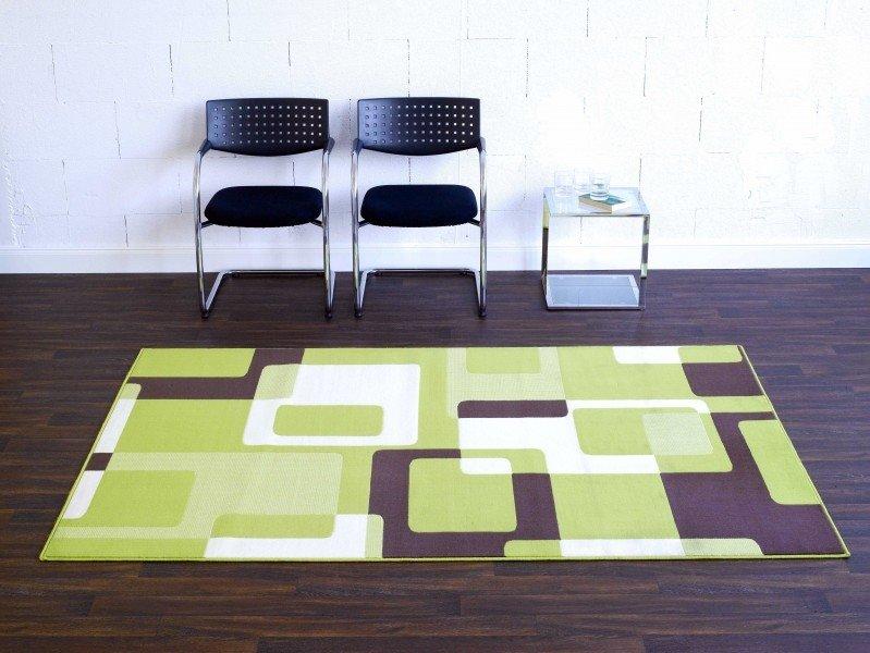 Různobarevný kusový moderní koberec Hamla