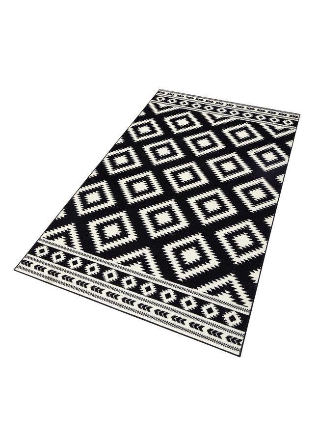 Černý moderní kusový koberec Gloria - délka 150 cm a šířka 80 cm