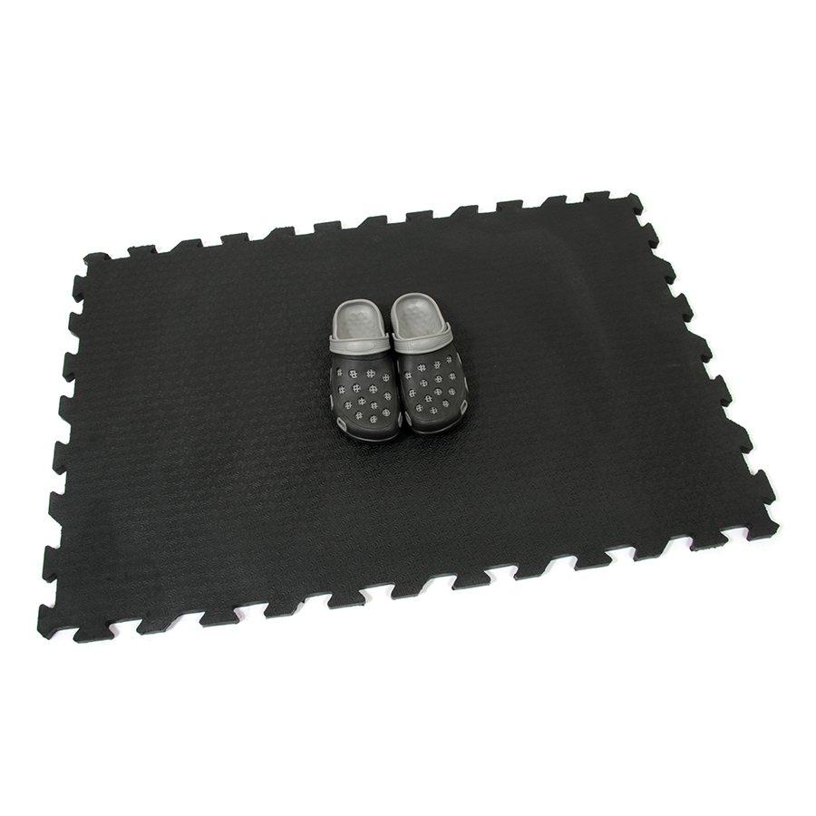 Gumová podlahová zátěžová rýhovaná rohož FLOMA Strong - délka 120 cm, šířka 80 cm a výška 2 cm