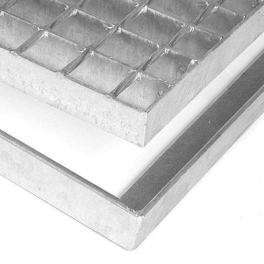 Kovová ocelová čistící venkovní vstupní rohož bez gumy bez pracen ze svařovaných podlahových roštů Galva, FLOMA - délka 60 cm, šířka 151,5 cm a výška 3,5 cm