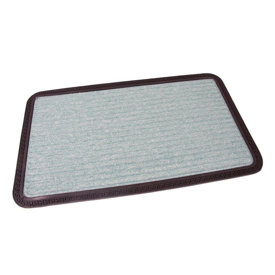 Zelená textilní vstupní venkovní čistící rohož Stripes, FLOMAT - délka 45 cm, šířka 75 cm a výška 0,8 cm