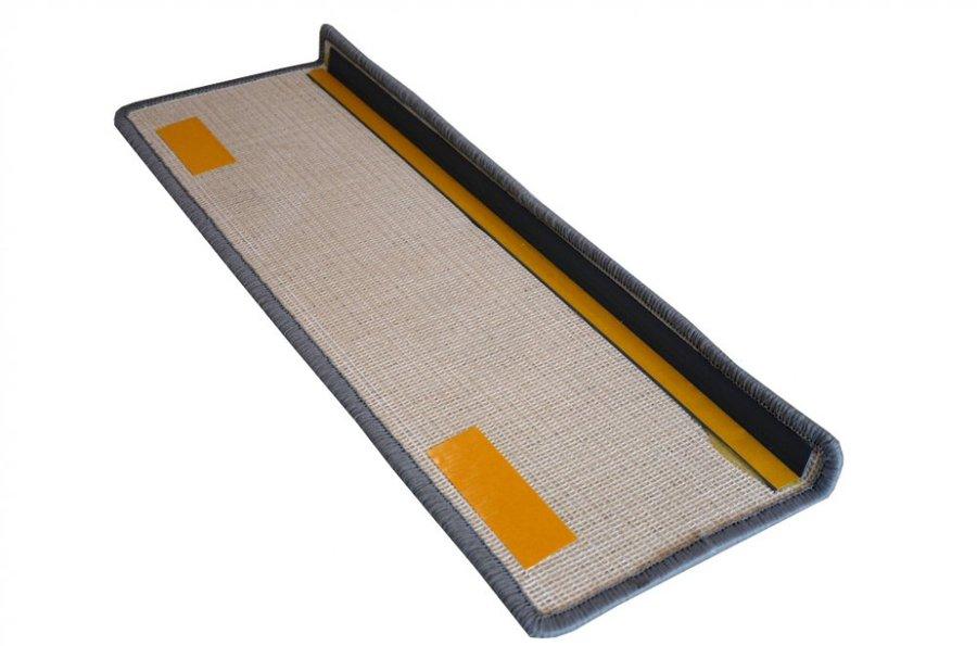 Šedý kobercový nášlap na schody Eton - délka 20 cm a šířka 65 cm