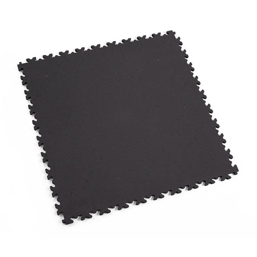 Šedá vinylová plastová zátěžová dlaždice Fortelock Eco 2020 (kůže) - délka 51 cm, šířka 51 cm a výška 0,7 cm