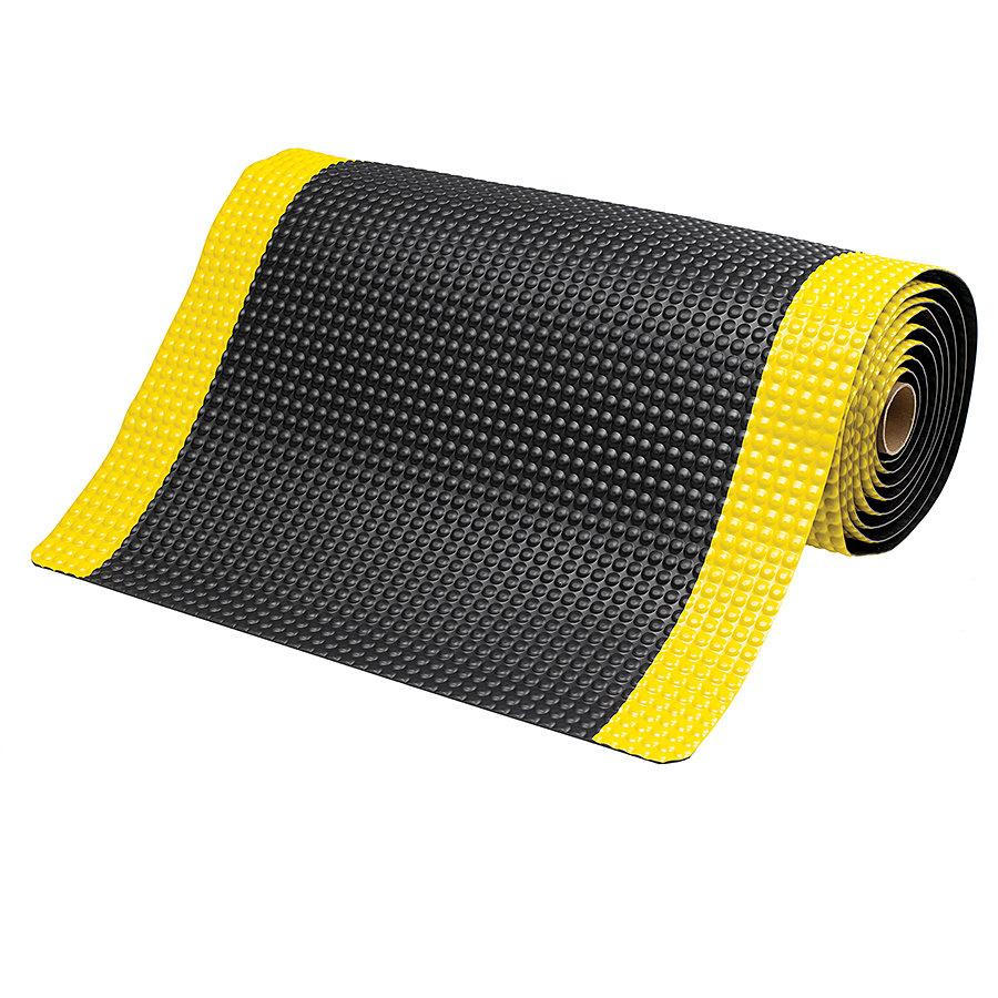 Černo-žlutá protiúnavová laminovaná rohož Sky Trax - délka 91 cm, šířka 60 cm a výška 1,9 cm