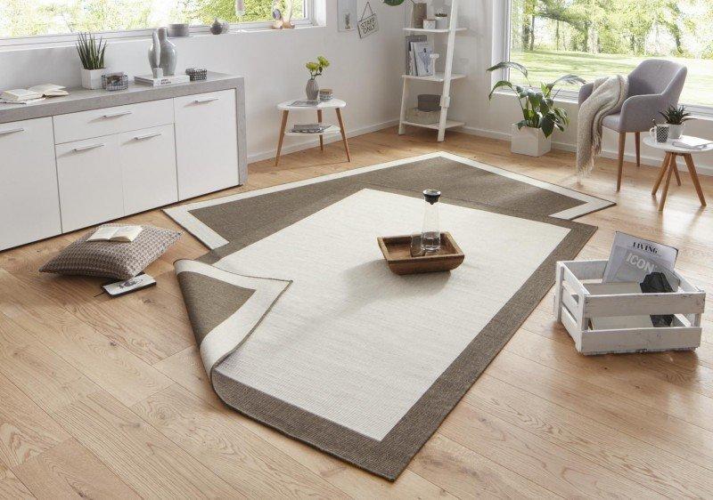 Béžovo-hnědý oboustranný kusový koberec Twin-Wendeteppiche - délka 150 cm a šířka 80 cm