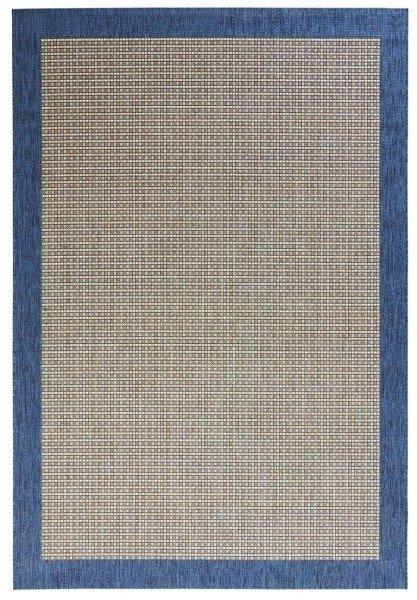 Modrý kusový koberec Natural