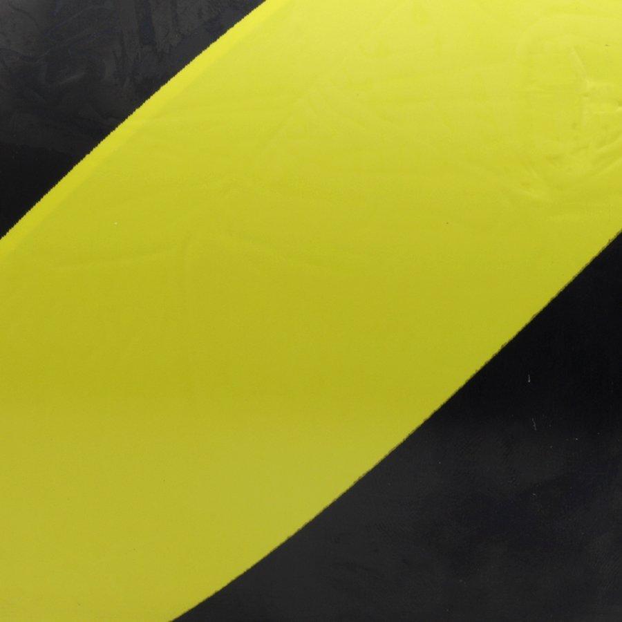 Černo-žlutá levá výstražná páska - délka 33 m a šířka 10 cm