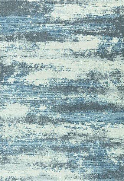 Modrý kusový moderní koberec Piazzo