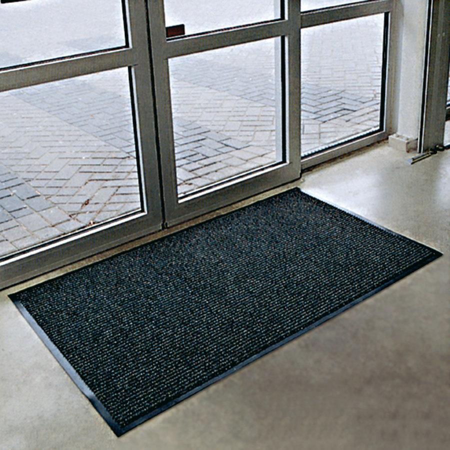 Antracitová textilní vstupní vnitřní čistící rohož Prisma - délka 90 cm, šířka 120 cm a výška 0,8 cm