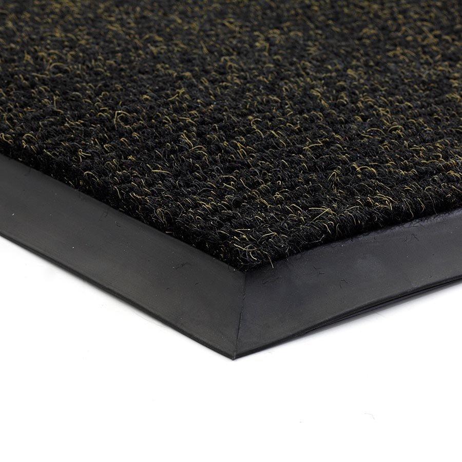 Černá textilní zátěžová čistící vnitřní vstupní rohož FLOMA Catrine - délka 1 cm, šířka 1 cm a výška 1,35 cm