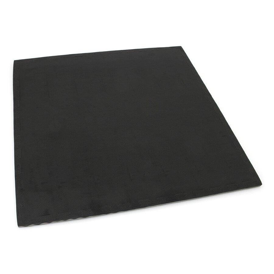 Černo-šedé oboustranné puzzle modulové tatami - délka 100 cm, šířka 100 cm a výška 3 cm