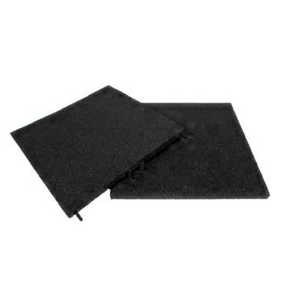 Černá gumová dlaždice (V30/R00) - délka 50 cm, šířka 50 cm a výška 3 cm