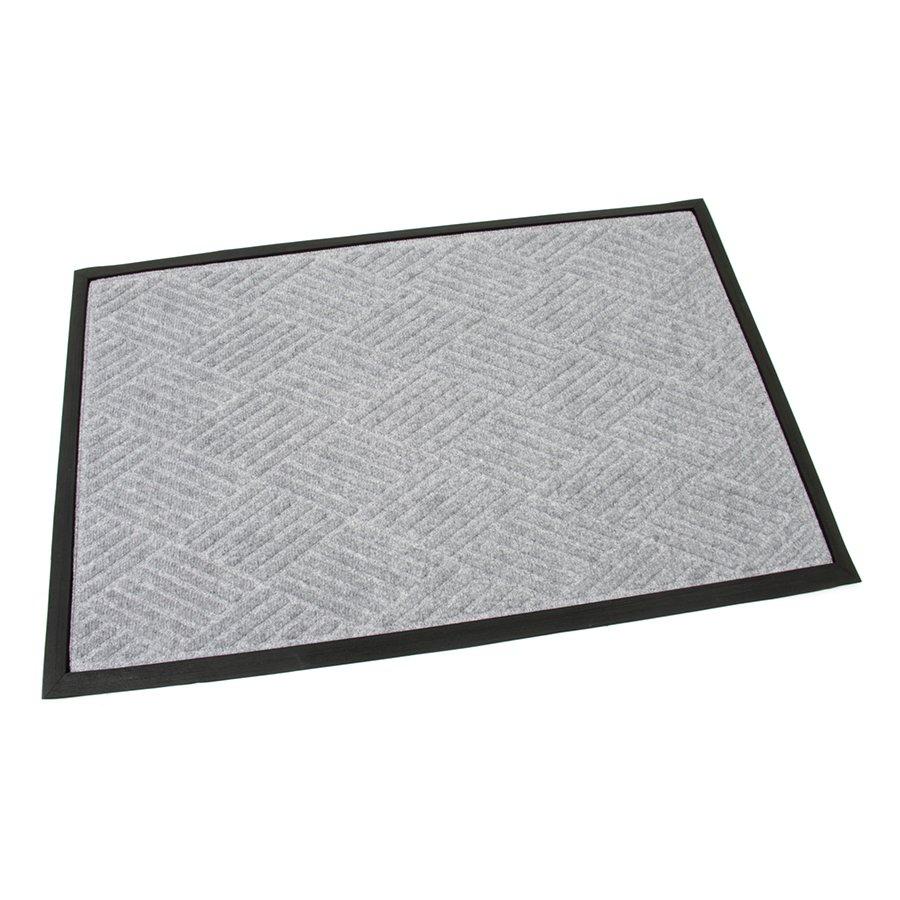 Šedá textilní gumová čistící vstupní rohož Crossing Lines, FLOMA - délka 60 cm, šířka 90 cm a výška 1 cm