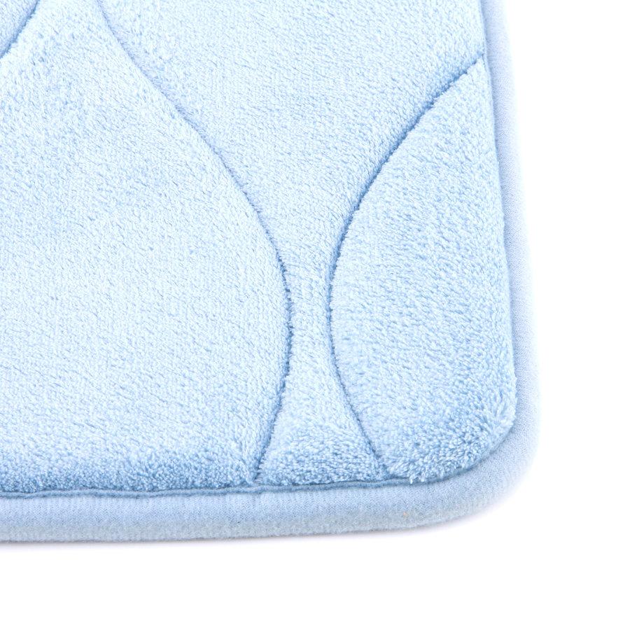 Modrá pěnová koupelnová předložka - délka 85 cm a šířka 53 cm